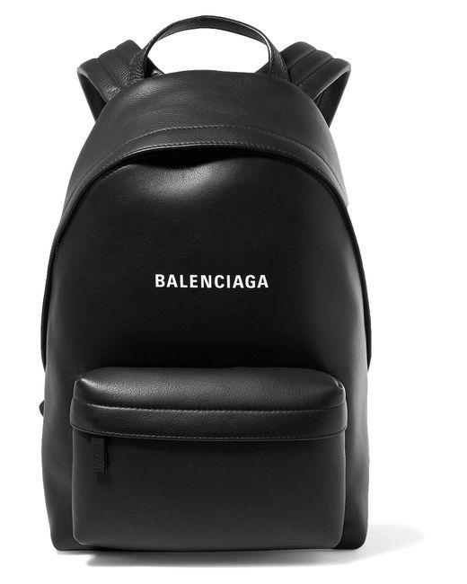 Balenciaga - Black Everyday Printed Leather Backpack - Lyst d4f2f8b04a2fa