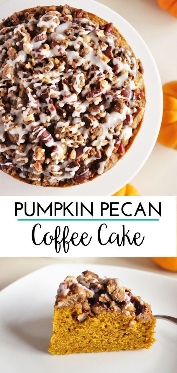 Pumpkin Coffee Cake with Pecan Streusel Pumpkin coffee