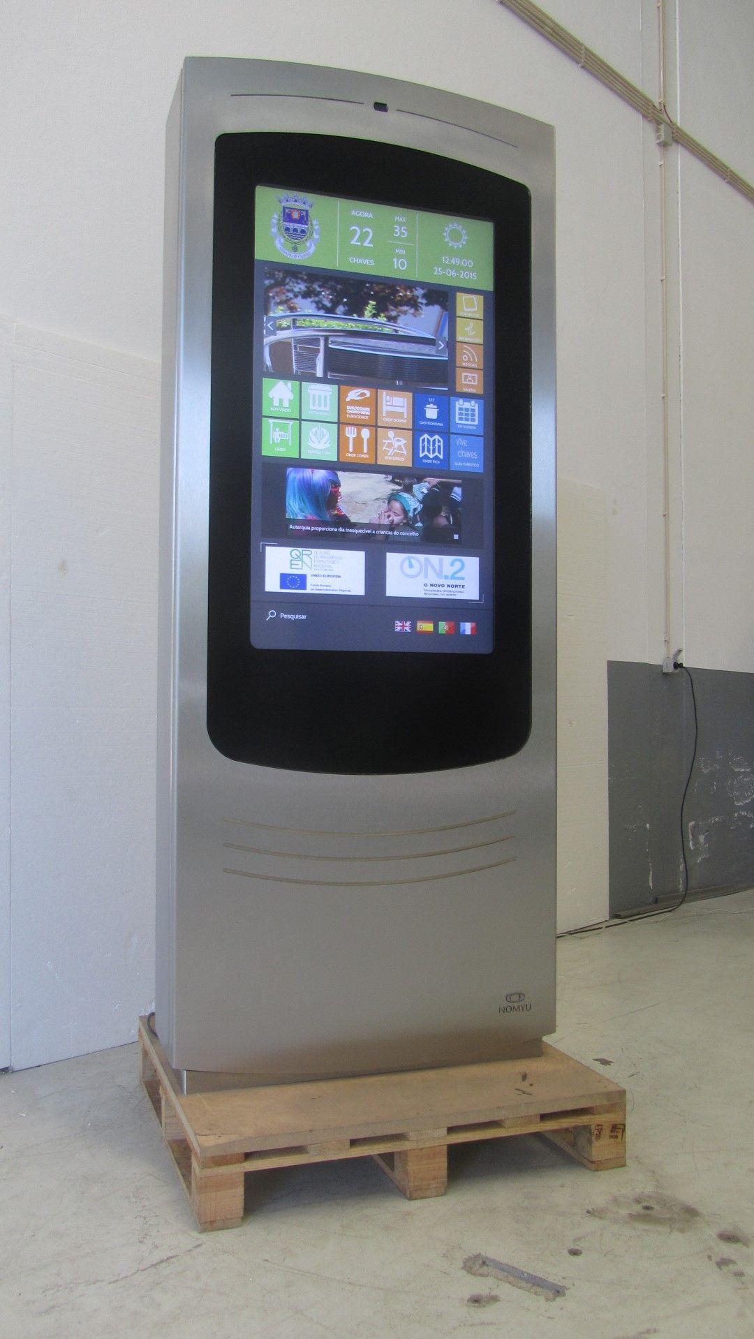 Nomyu outdoor digital billboard premium kiosk with for Exterior kiosk design