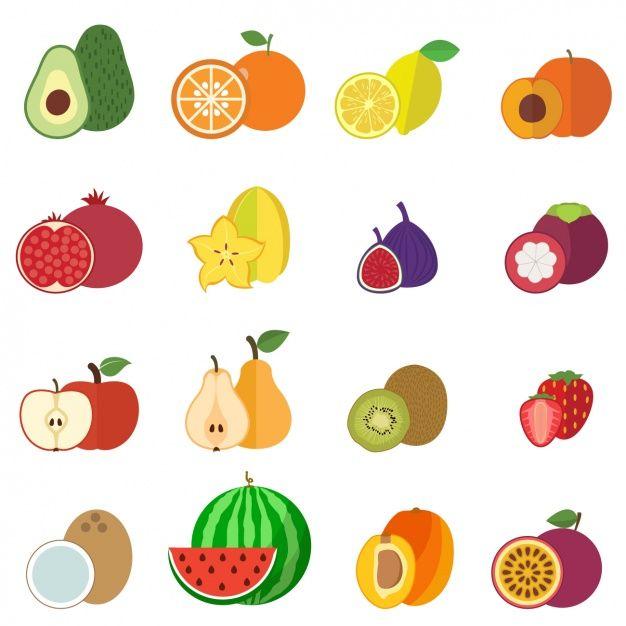 2f605940b coleta de frutas ícones Vetor grátis