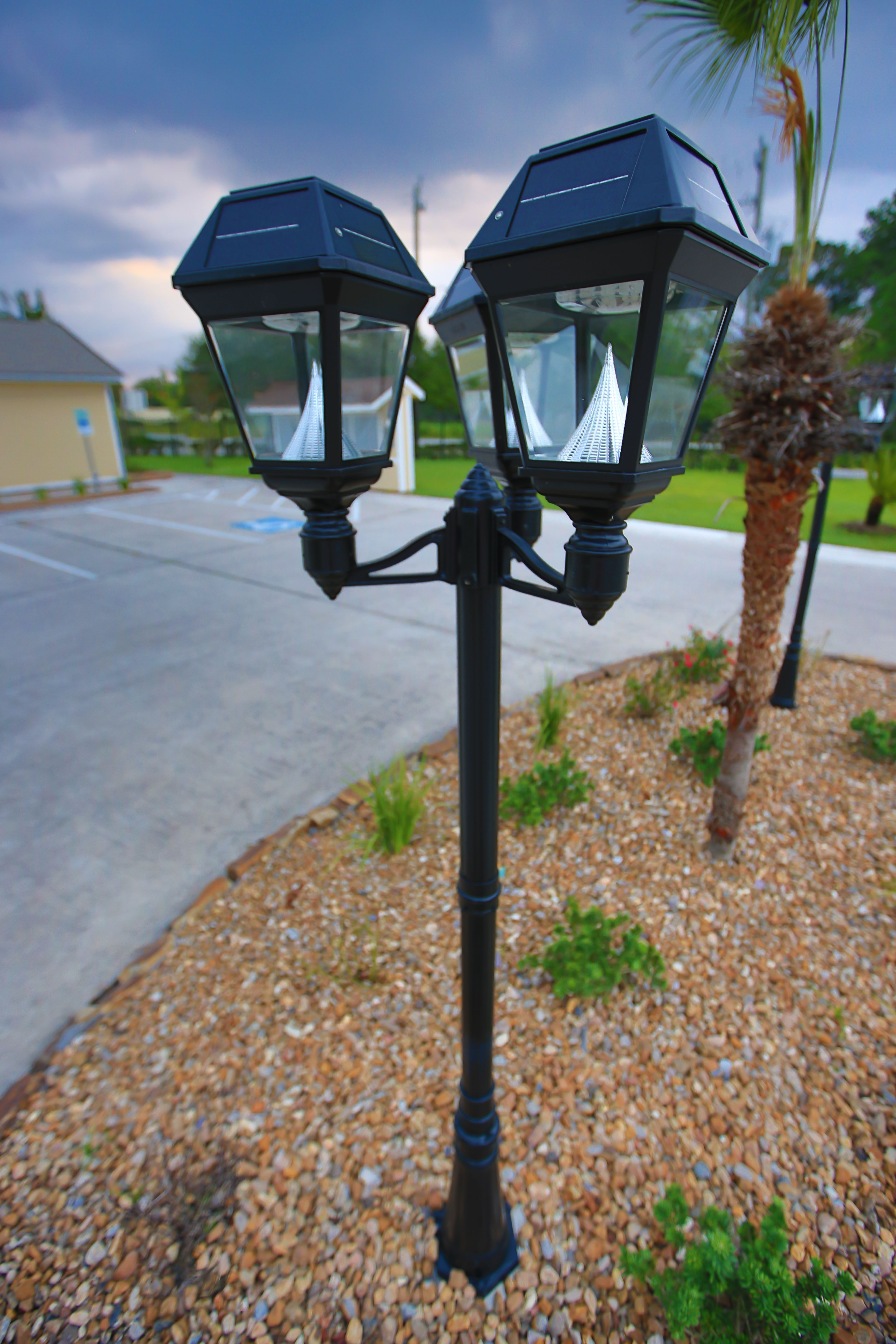 this led solar powered lamp post light fixture is the perfect eco friendly solution for any residential or commercial property shop the full imperial ii  [ 3840 x 5760 Pixel ]