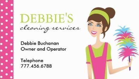 Cute pink polka dots girly maid house cleaning services business cute pink polka dots girly maid house cleaning services business cards httpwww colourmoves