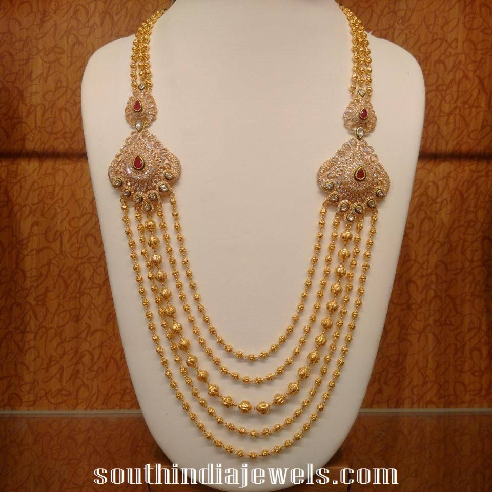 Pai jewellers gold necklace designs latest indian jewellery designs - Jewellery Designs Antique Gold Mango Set With Rubies Heavy Indian Bridal Jewelry