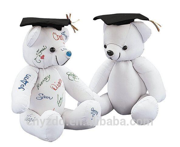 Plush Toy Autograph Graduation Bear /Stuffed Animal Toy Graduation Gift/Soft Bear to Sign for Graduation