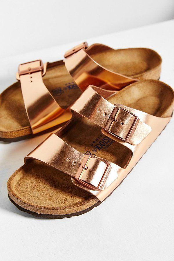 Birkenstock Arizona Metallic Soft Footbed Sandal  82f9342d3df