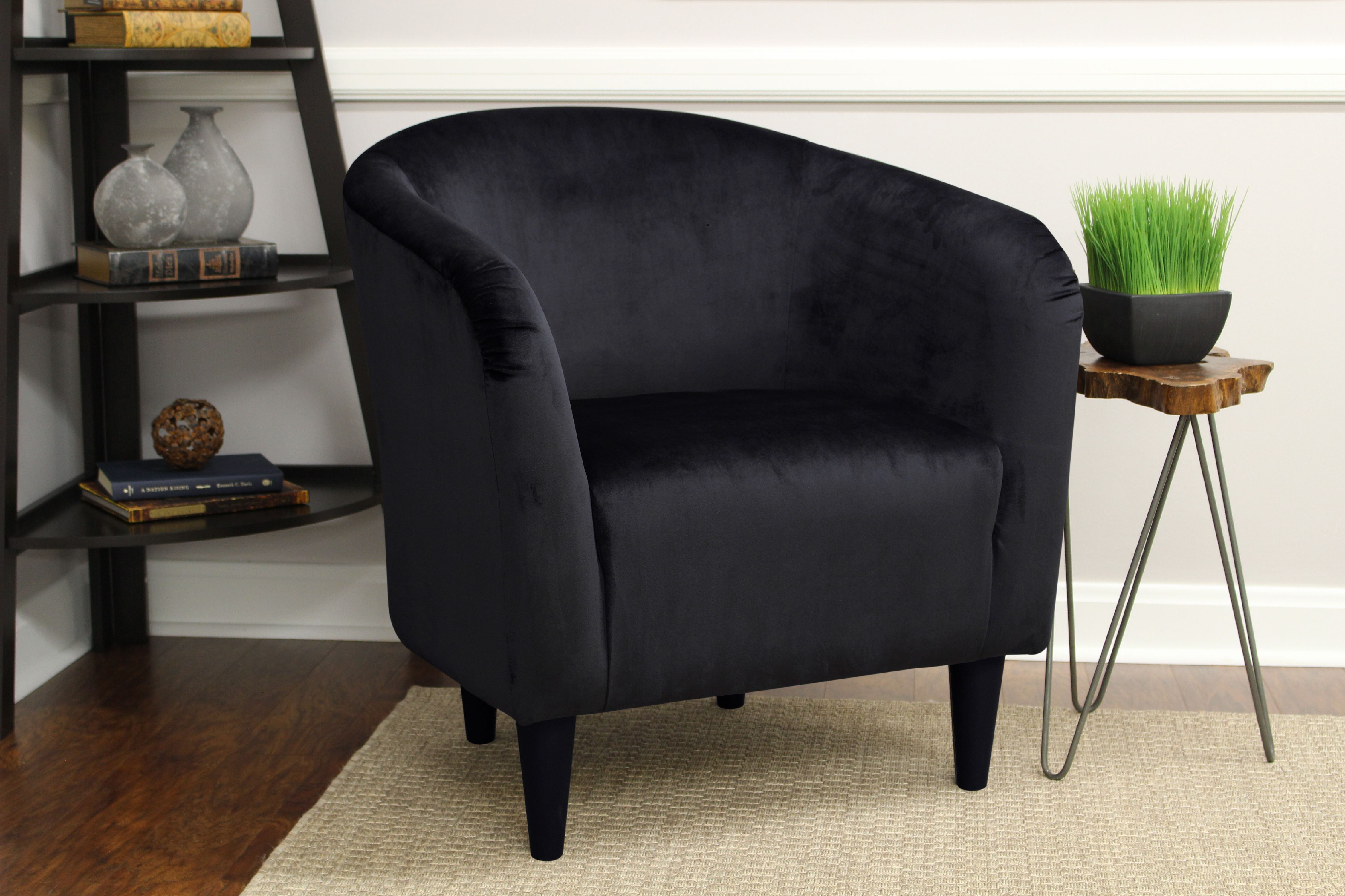 Mainstays Microfiber Tub Accent Chair Black Walmart Com Black Living Room Chairs Accent Chairs Arm Chairs Living Room [ 3000 x 4500 Pixel ]
