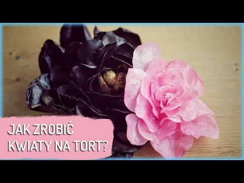 Dekoracja Tortu Jak Zrobic Kwiaty Z Jadalnego Papieru Sugarlady Youtube