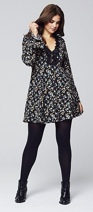Plus Size Floral Print Dress Clothing Shoes Jewelry Women