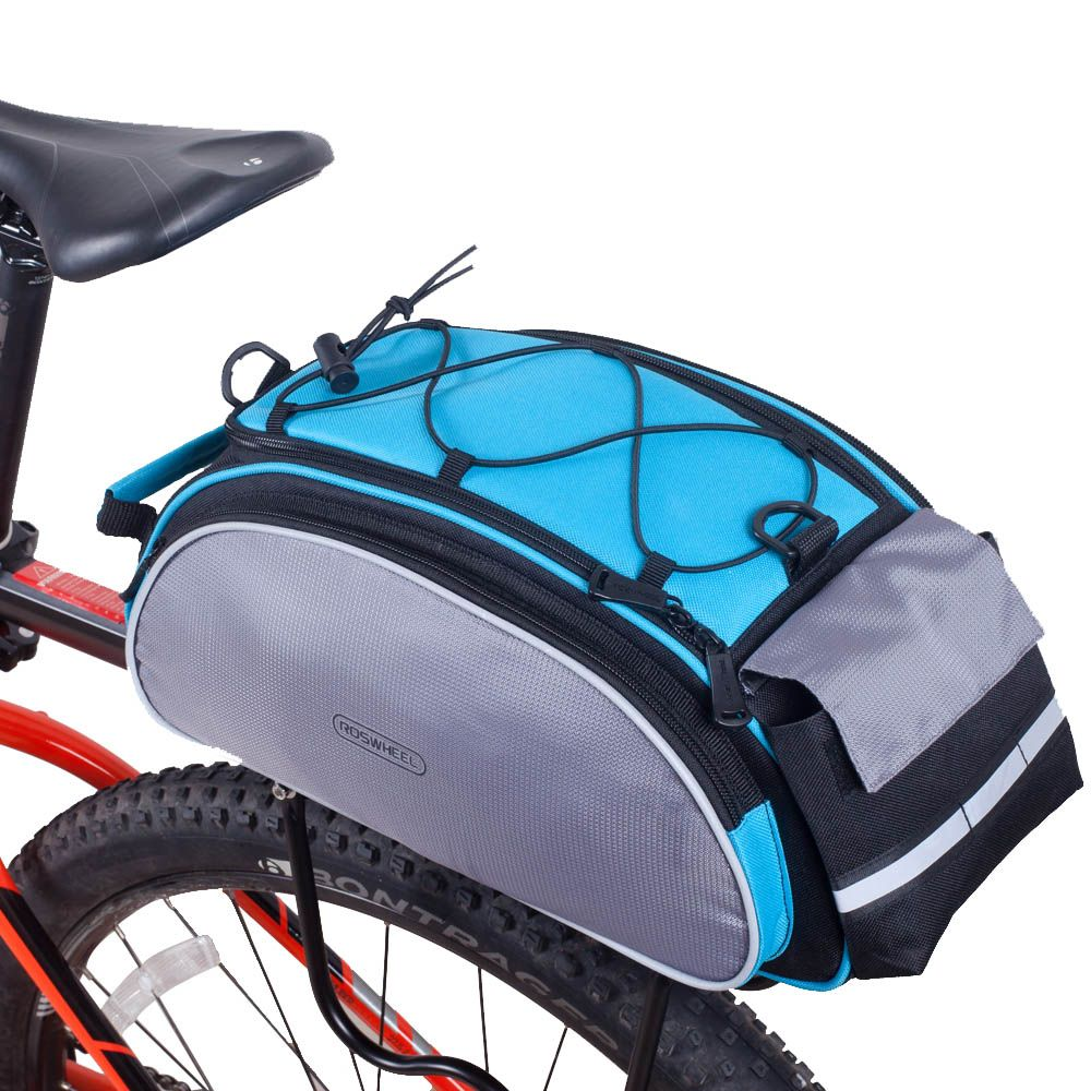 Roswheel Cycling Bicycle Bag Multifunction 13l Bike Tail Rear Bag Saddle Cycling Bike Bicicleta Shoulder Han Bike Panniers Mountain Bike Bag Road Bicycle Bikes