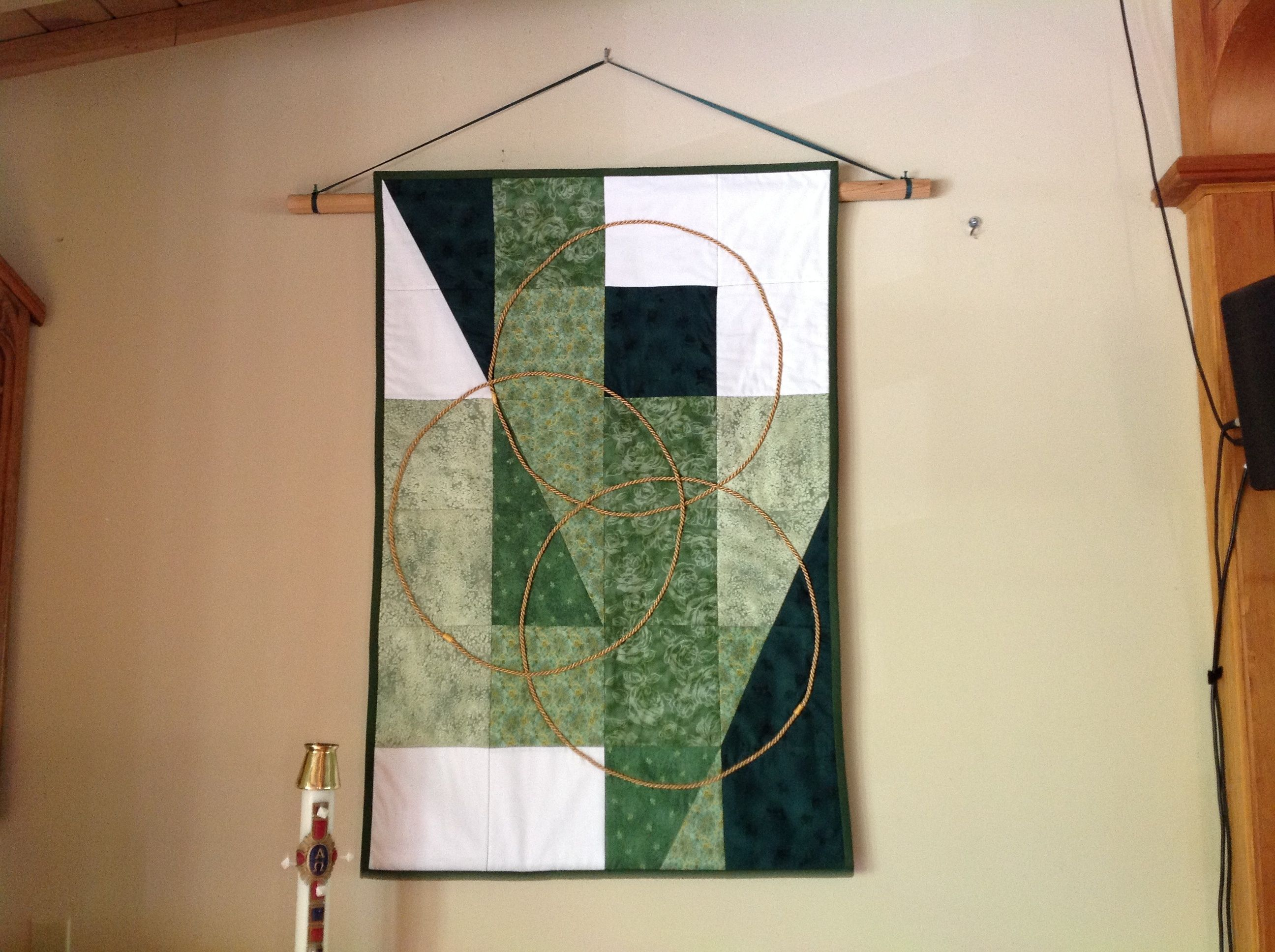 This church banner I sewed for Trinity Sunday and ordinary time in ... : quilted church banners - Adamdwight.com
