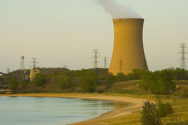 Nipsco Coal Fired Cooling Tower Michigan City Indiana Michigan