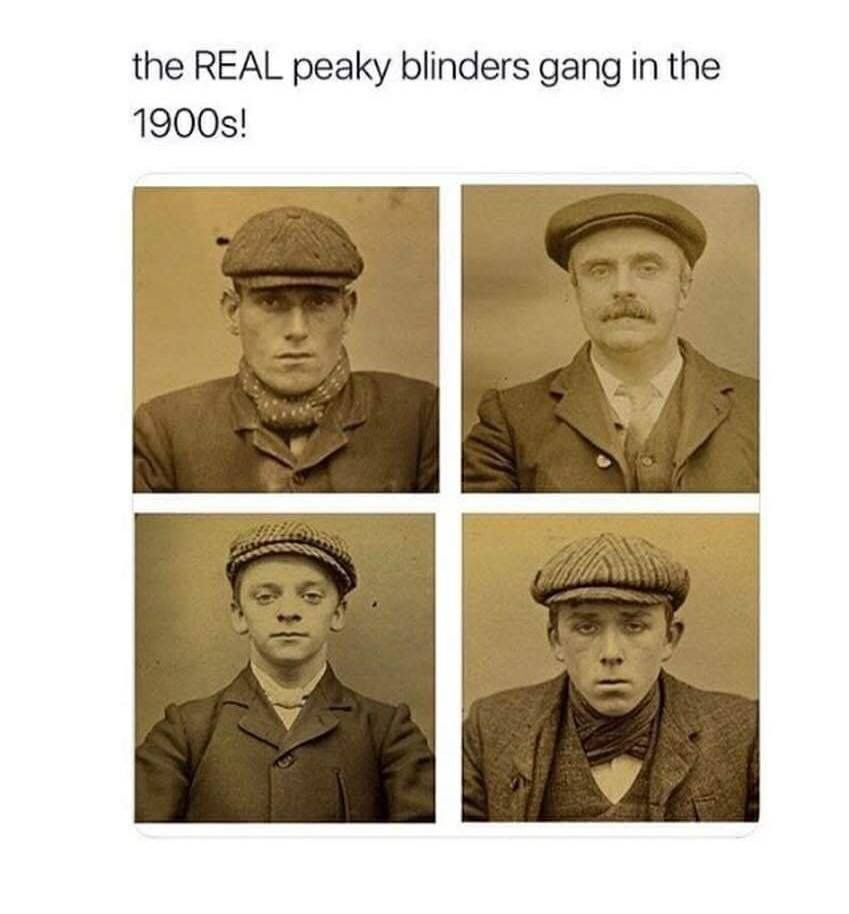 PEAKY FANS ✖ Here Is Your REAL PEAKY BLINDERS Gang! Not Quite As Charming  As The Ones We know! What Do You Think  😂 Let us Know Below 👇 66fd77df6e4