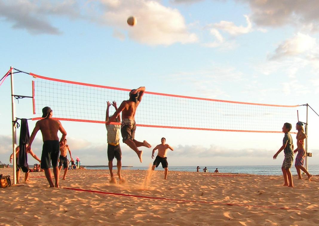 Beach Volleyball At Oob Beach Volleyball Volleyball Beach