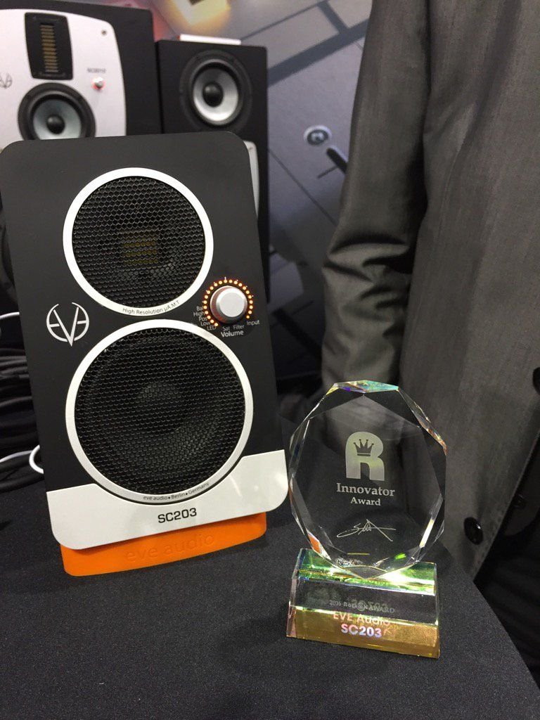 Our EVE SC203 desktop loudspeaker system received the Innovator award. Thank you, Rock On Company, Japan!