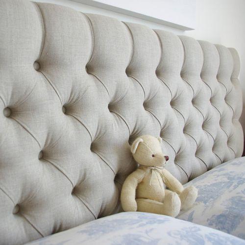 Linen Upholstered Headboard   King Size