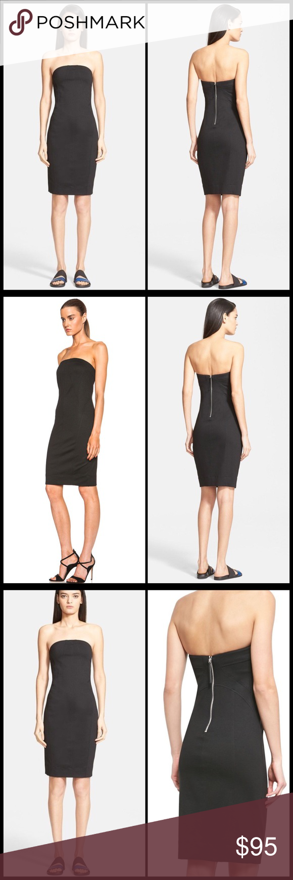 2240073a4e8 HELMUT LANG 💣 Pointe Strapless Tube Dress NWT Angled seams structure the  bodice in this essential
