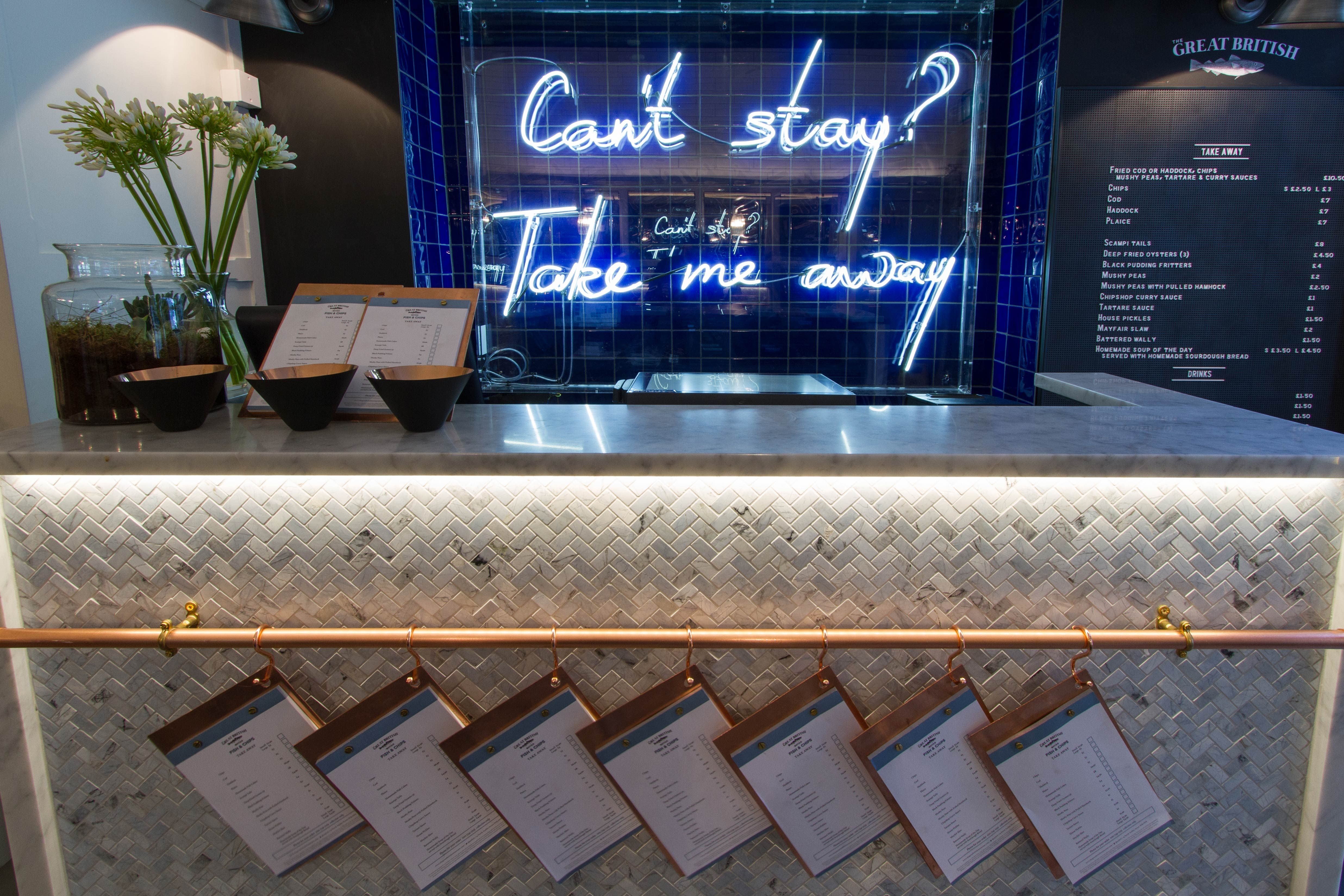 Stephenson Wright Ltd The Mayfair Chippy London Interior Design Restaurant Desi Fish And Chip Shop Restaurant Design
