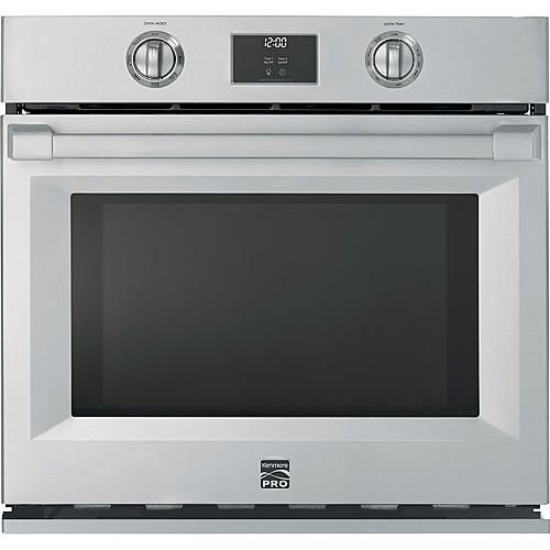 Kenmore Pro 41153 30 Electric Self Clean Single Wall Oven Stainless Steel Stainless Steel Oven Kenmore Pro Wall Oven