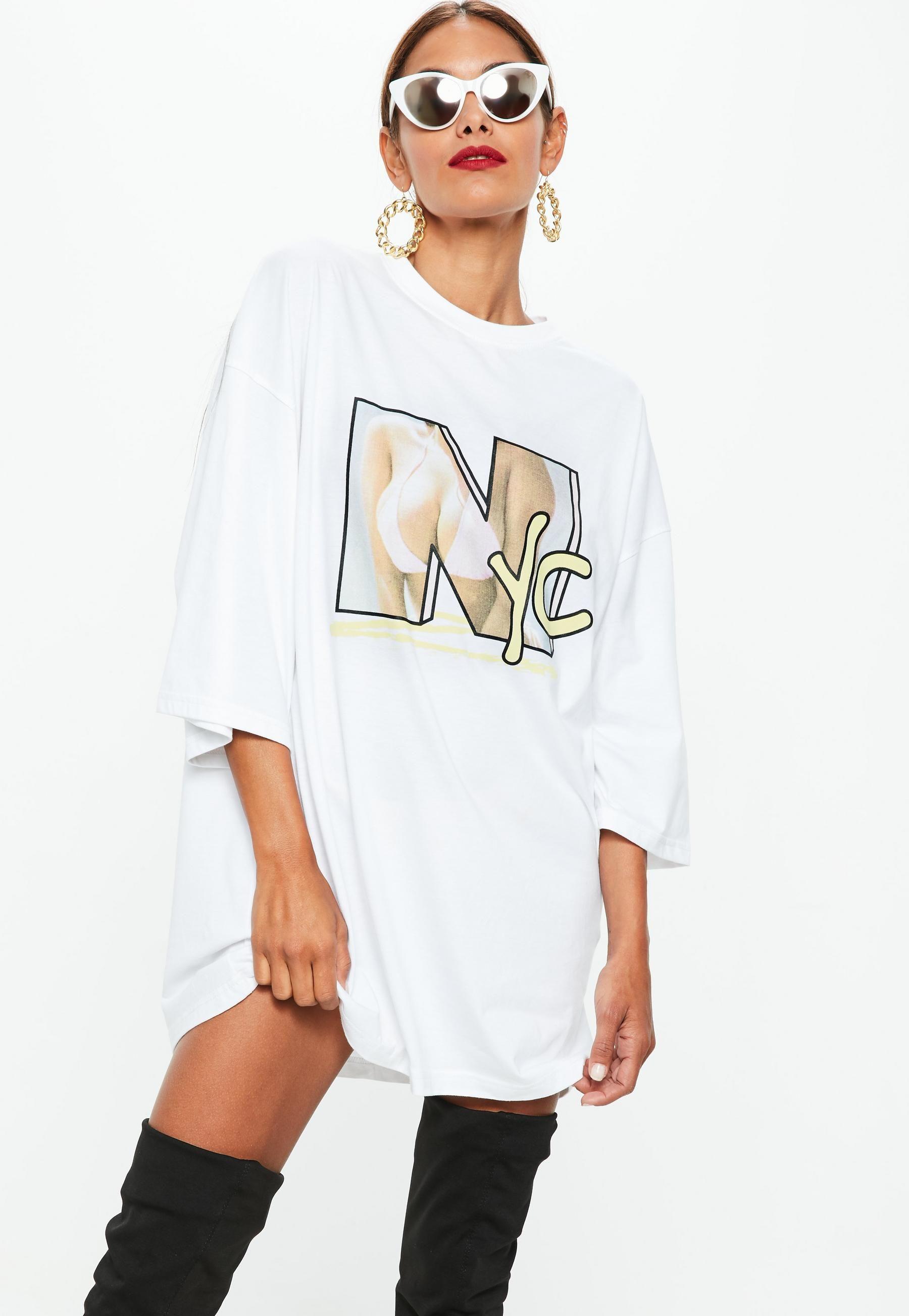 white graphic tee outfit