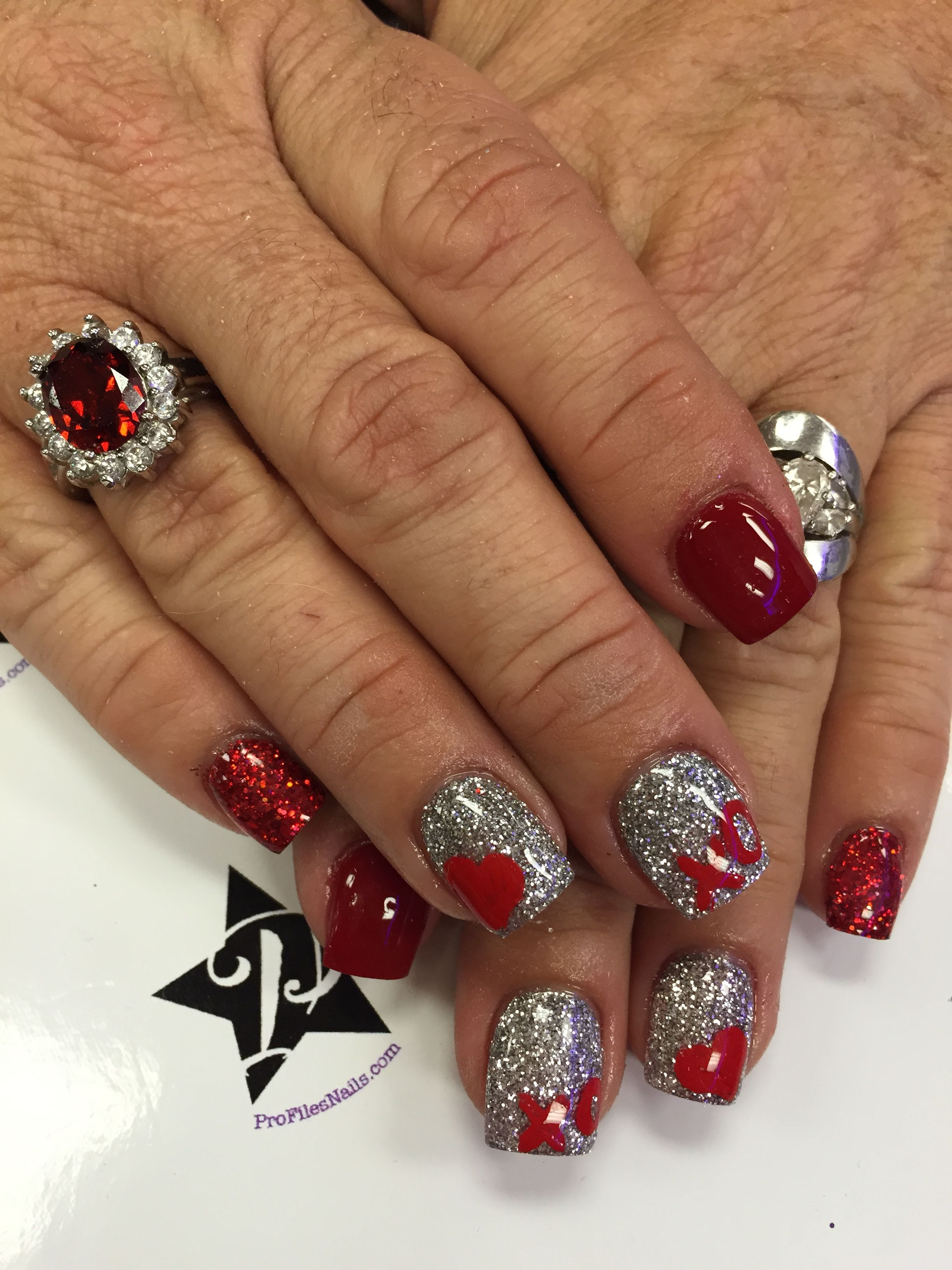 These are my I\'ve got my heart on You Nails. Happy Valentines Day ...