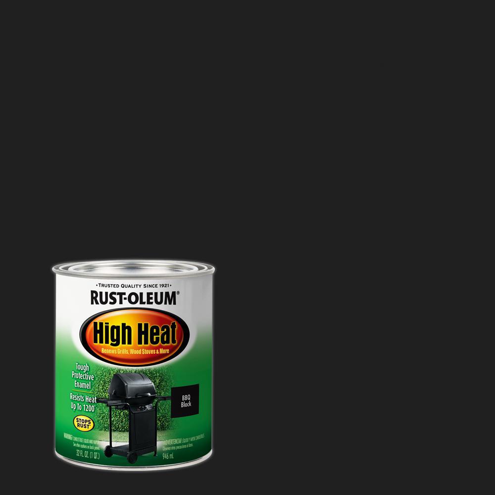 Rust Oleum Specialty 1 Qt Bar B Que Satin Black High Heat Enamel Interior Exterior Paint 2 Pack Black Satin High Heat Paint Enamel Paint Rust