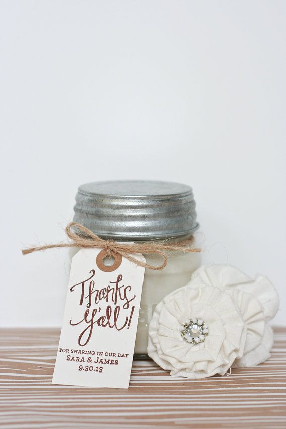 Thanks Yall Custom Personalized Wedding Favor Rubber Stamp