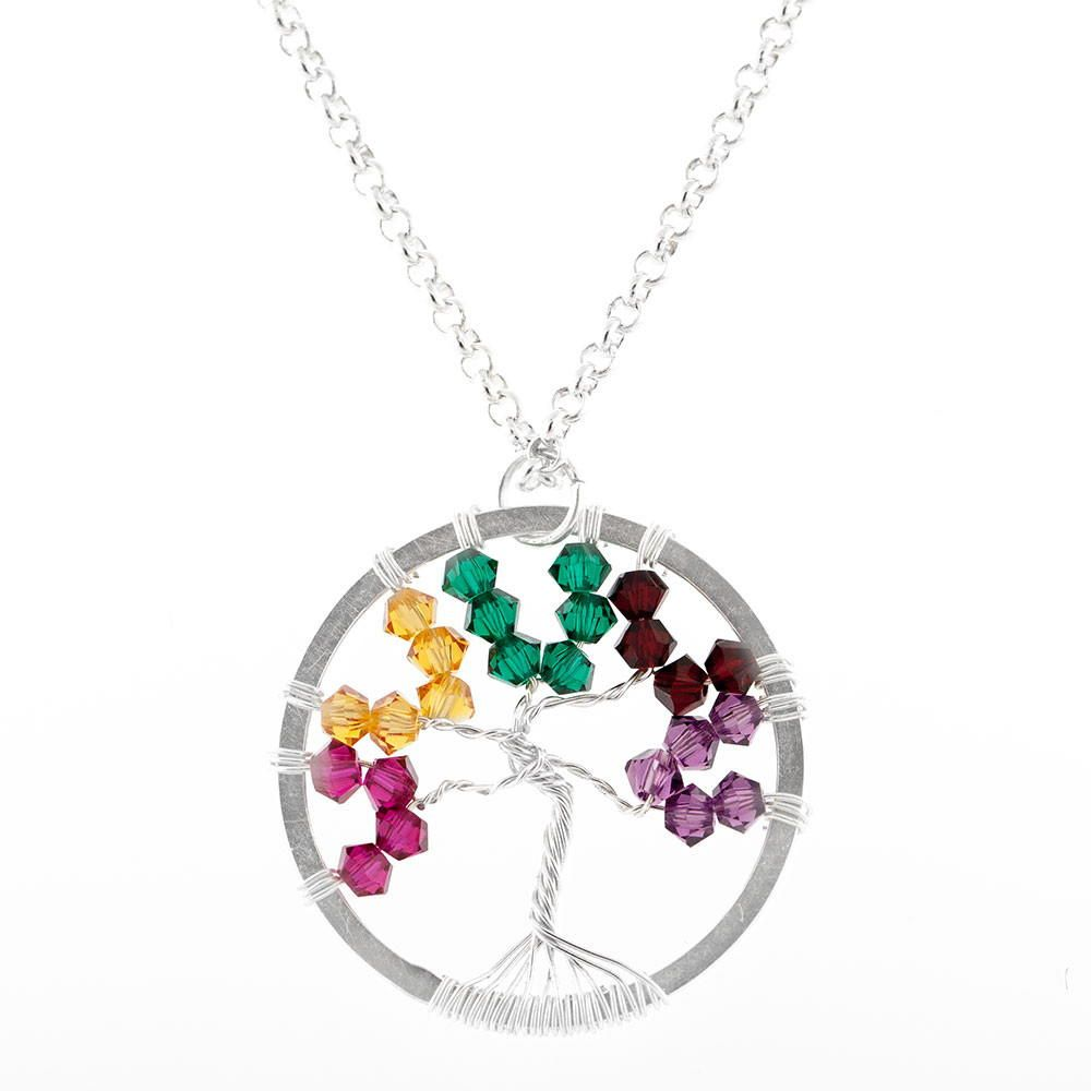 This My Little Tree Wire Wrap Pendant is the perfect DIY necklace idea for a Mother's Day gift or any other present. With its colorful crystal beads and beautiful wire design, this pretty pendant is a DIY jewelry project that makes the most of simple wire wrapping techniques. Create yours in silver, gold, copper, or whichever color you like the most. You can add beads that correlate with birthstones, or you can use all the same color beads to create a monochromatic work of art.