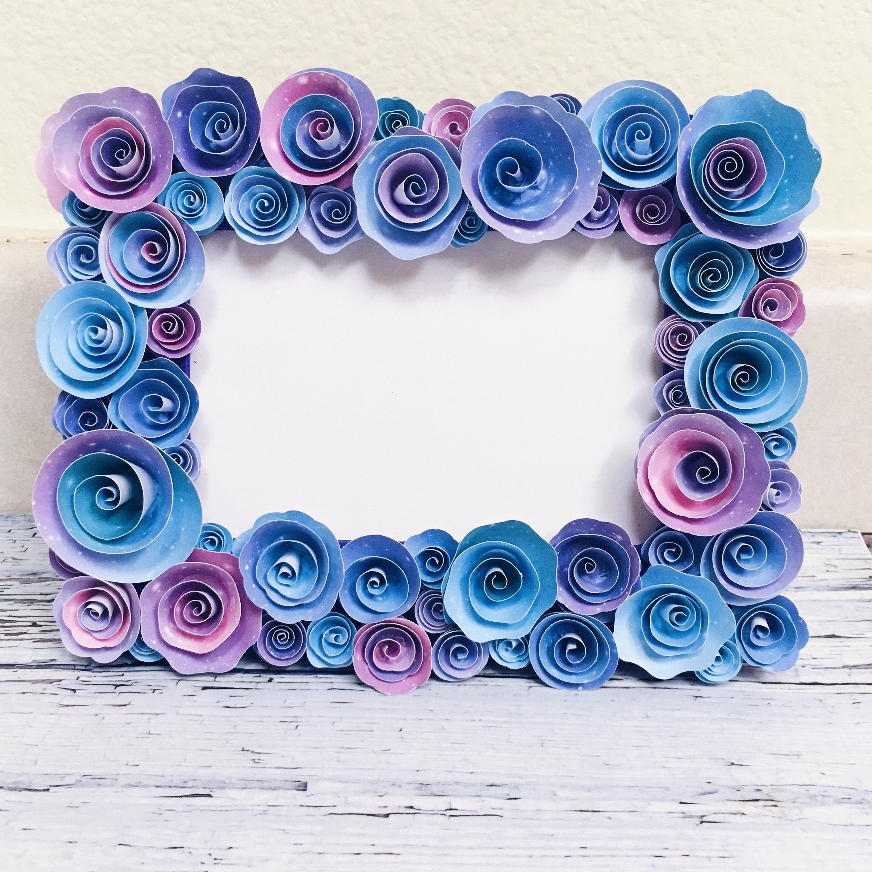 PHOTO FRAME HAND MADE REAL ROSES