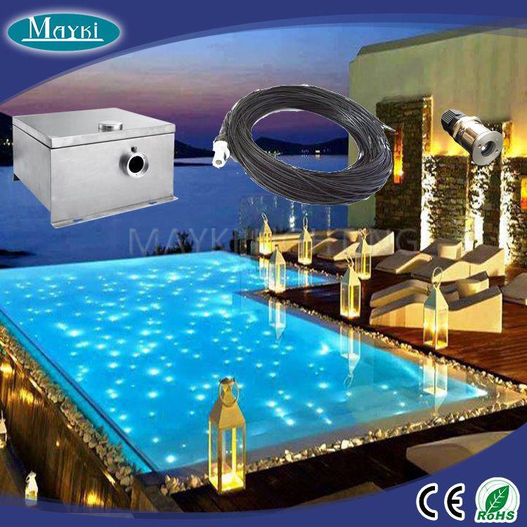 High Quality Fiber Optic Pool Light With Color Wheel 80w Led