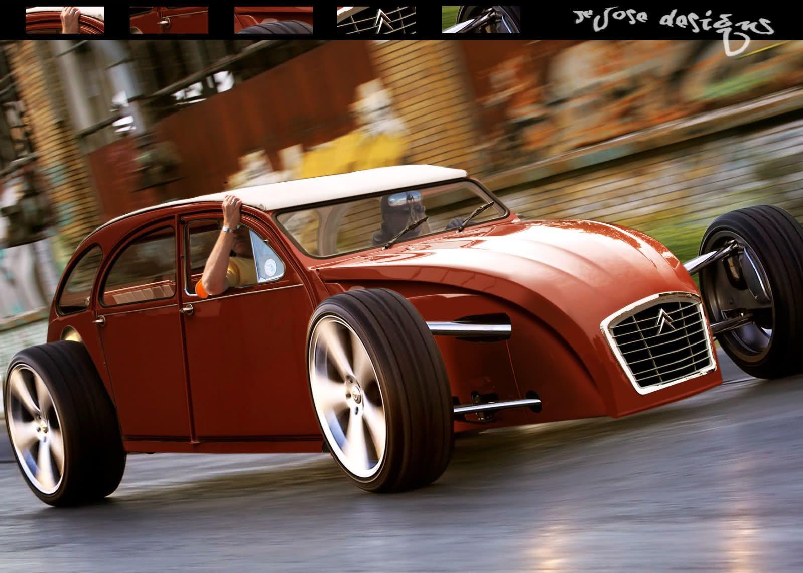 2cv hot rod recherche google tuning pinterest 2cv voitures et belle voiture. Black Bedroom Furniture Sets. Home Design Ideas