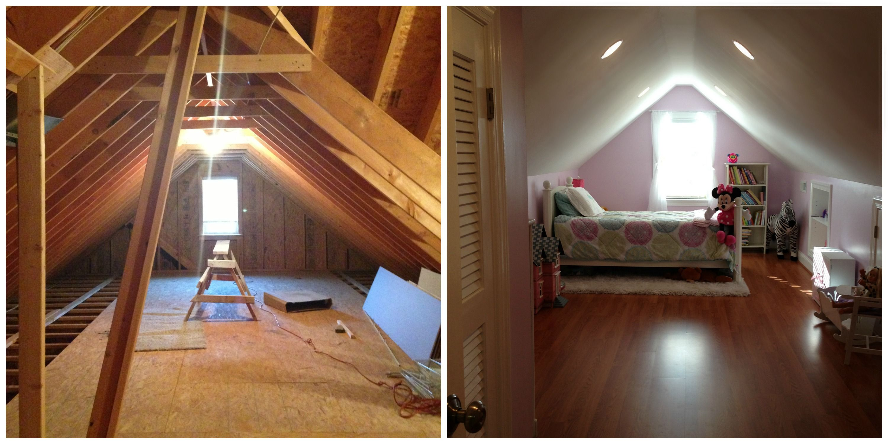 Attic Bedroom Before And After Low Ceiling Bedroom Loft Attic Bedroom