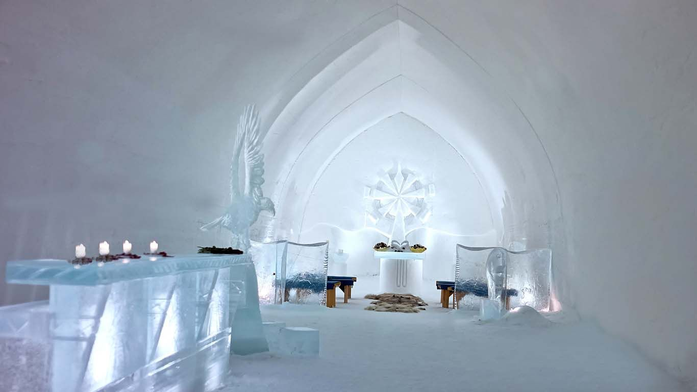 An Ice Chapel For A Winter Wedding Since Luc And Rah Will Marry During This Would Be Ideal
