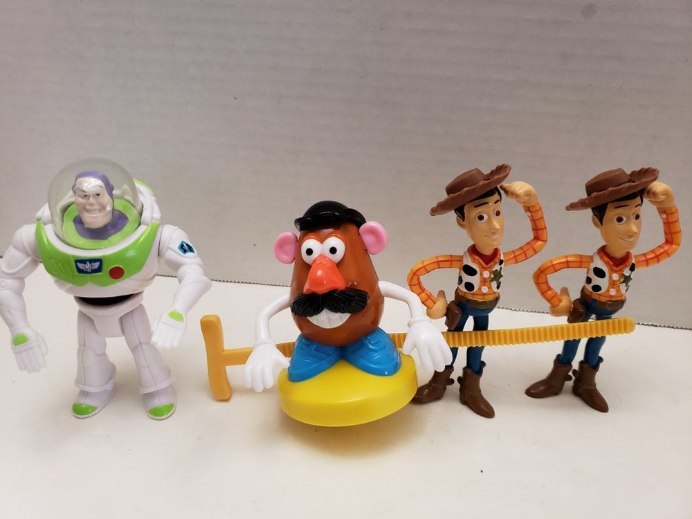 Lot of 4 Toy Story Happy Meal Toys Buzz Lightyear Mr Potato