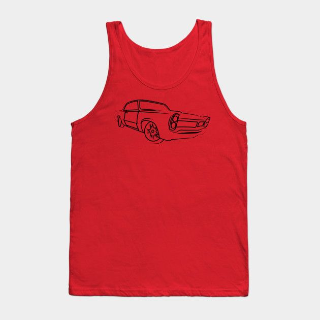 Old School Retro Classic Car Side Muscle Car Gifts For Car Lovers Tank Top