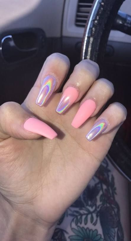 26 Ideas For Nails Tumblr Acrylic Coffin Pink Acrylic Nails Summer Acrylic Nails Pretty Acrylic Nails