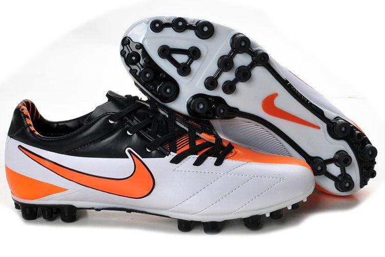 Latest Listing Discount Nike Laser IV AG Football Black Orange White Soccer  Boots On Sale