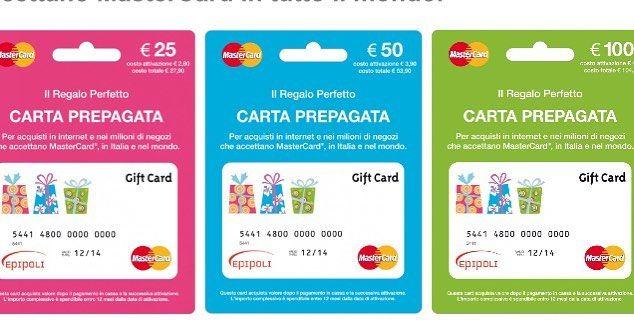 Carte Prepagate MasterCard by Epipoli sono il nuovo modo
