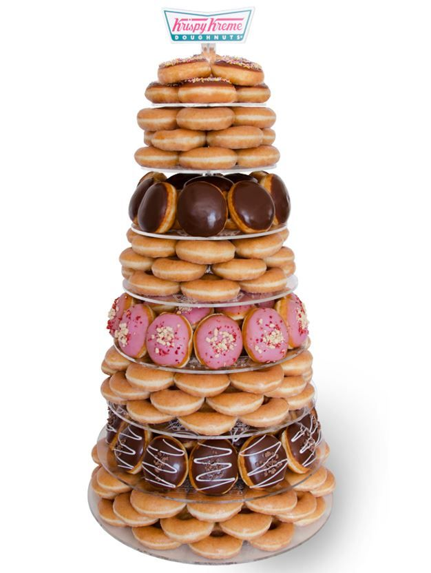 Guys, Krispy Kreme does weddings now (and birthdays) #donutcake