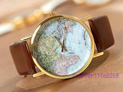 Hey i found this really awesome etsy listing at httpsetsy buy world map wrist watch mens wristwatches unisex watch women watches brown valentines gift for women size one size at wish shopping made fun gumiabroncs Choice Image