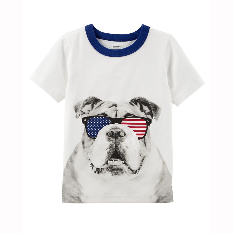 8d96e30d Carter's 4th Of July Boys Round Neck Short Sleeve Graphic T-Shirt-Toddler