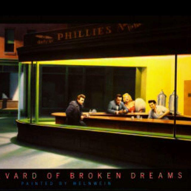 Boulevard Of Broken Dreams Painting Featuring Marilyn Monroe James
