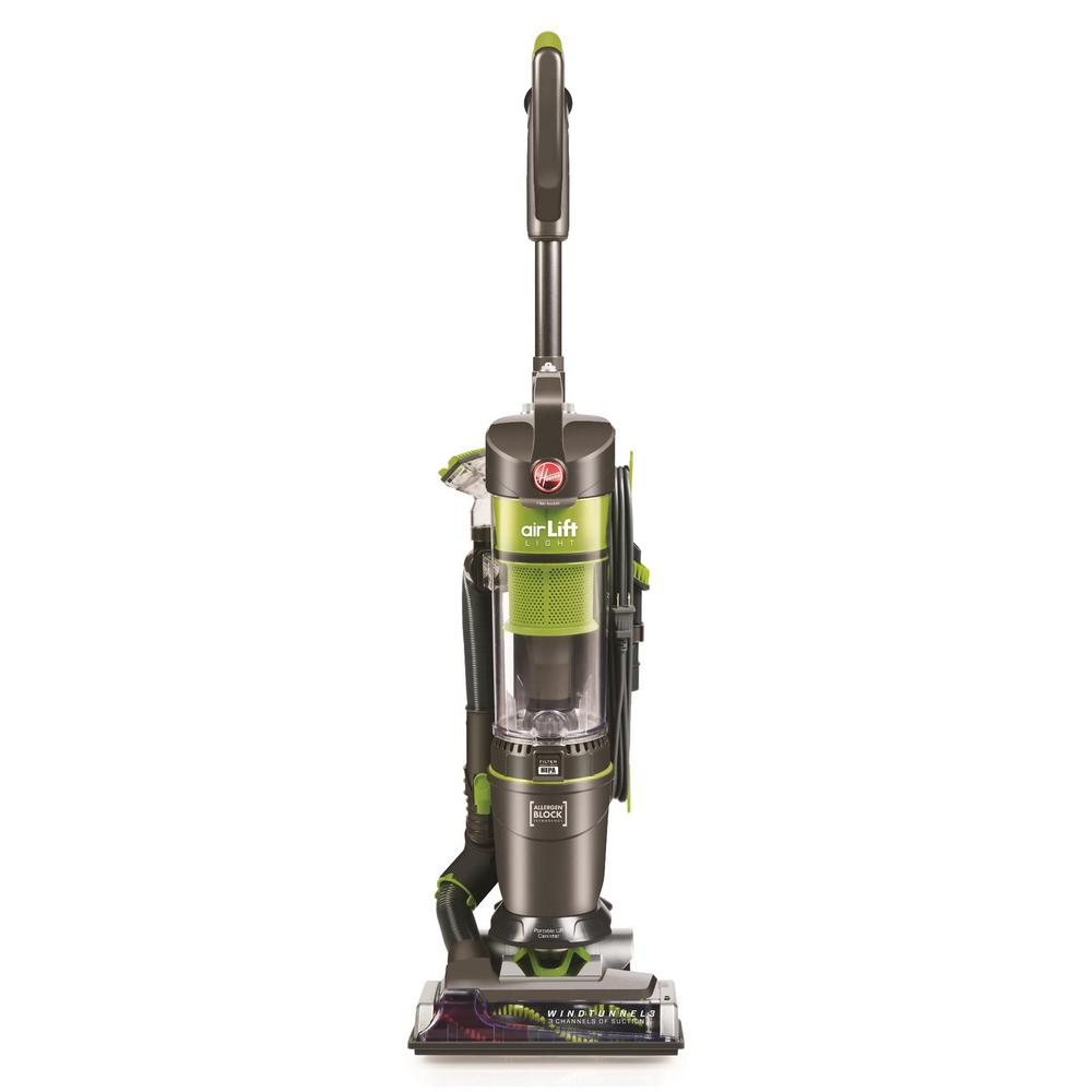 Hoover Air Lift Light Bagless Upright Vacuum Cleaner Uh72540 The Home Depot Canister Vacuum Cleaner Upright Vacuums Canister Vacuum