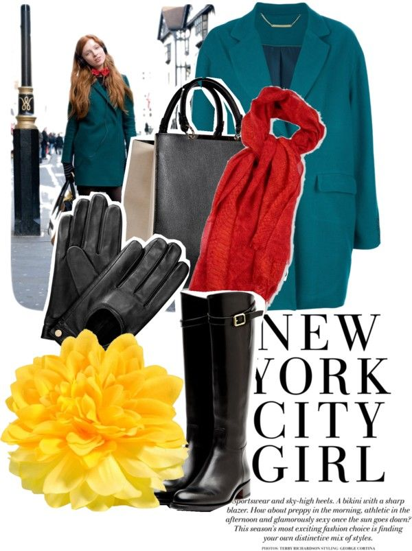 """New York's colors!!!"" by angira ❤ liked on Polyvore"