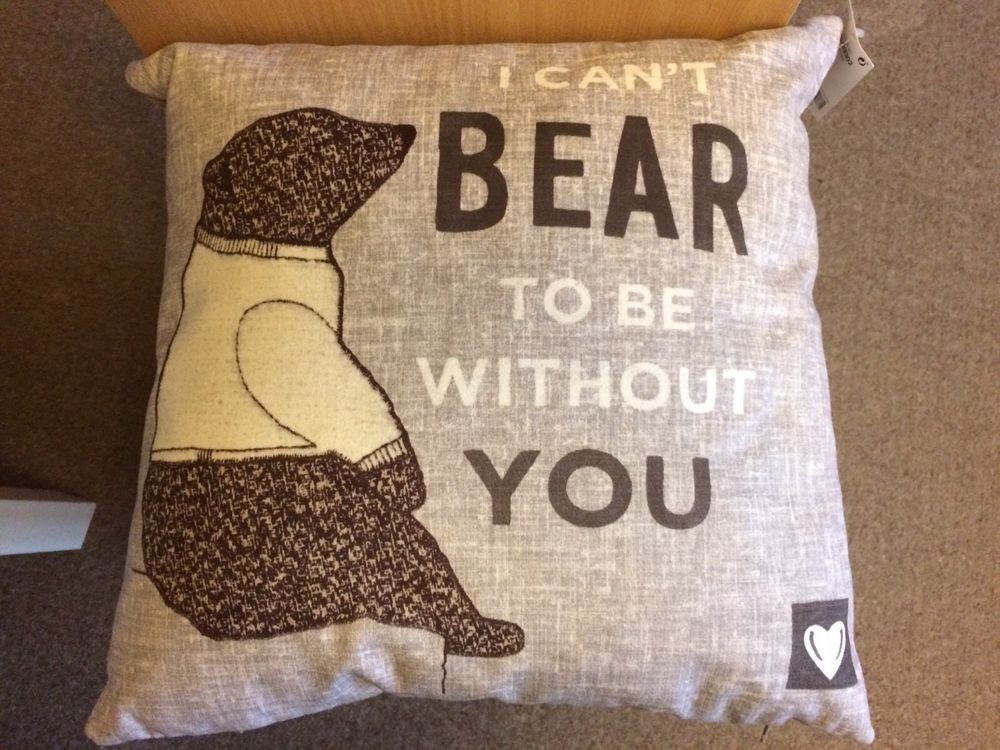 NEXT BNWT can\u0027t bear to be without you Cushion 43x43cm home decor