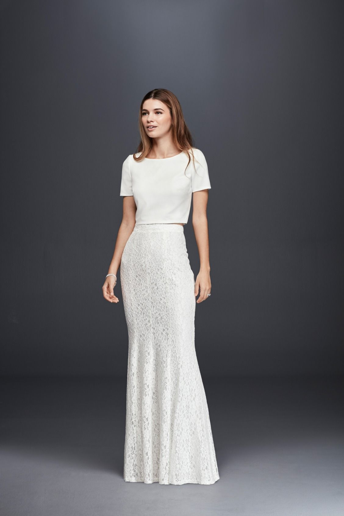 The Chic Bridal Two Piece This Slim Lace Skirt Pairs Perfectly With