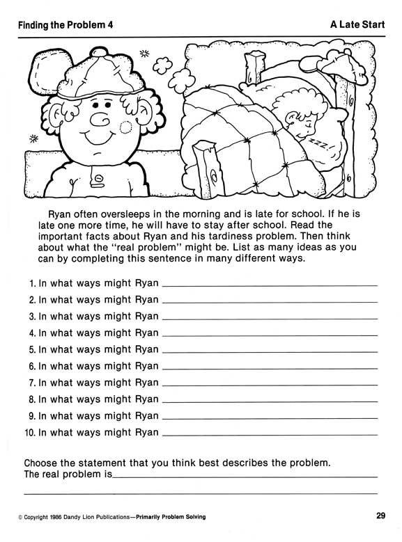 Printable Problem Solving Worksheets - Bing Images | Cognitive ...