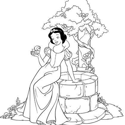 Partage Disney Princess Coloring Pages Snow White Coloring Pages Princess Coloring Pages