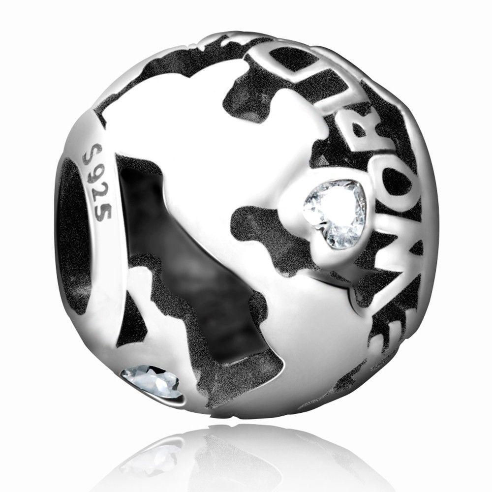 Soccer Ball Charm Authentique Argent Sterling 925 European Charm Bead Fit Bracelet