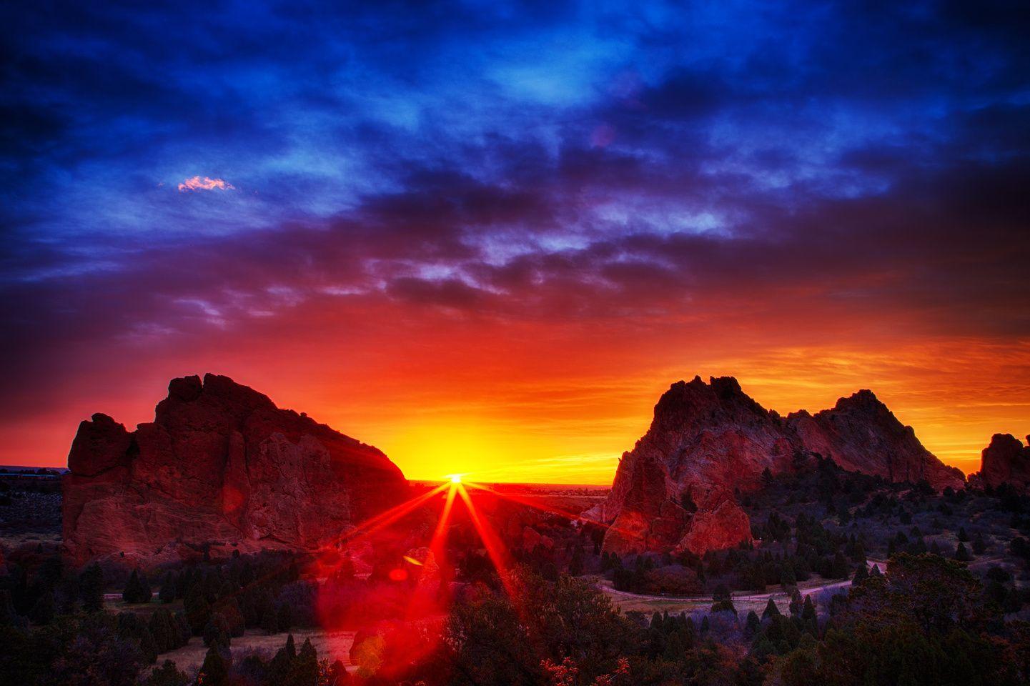 Sunrise at Garden of the Gods Sunrise, Beautiful sunset