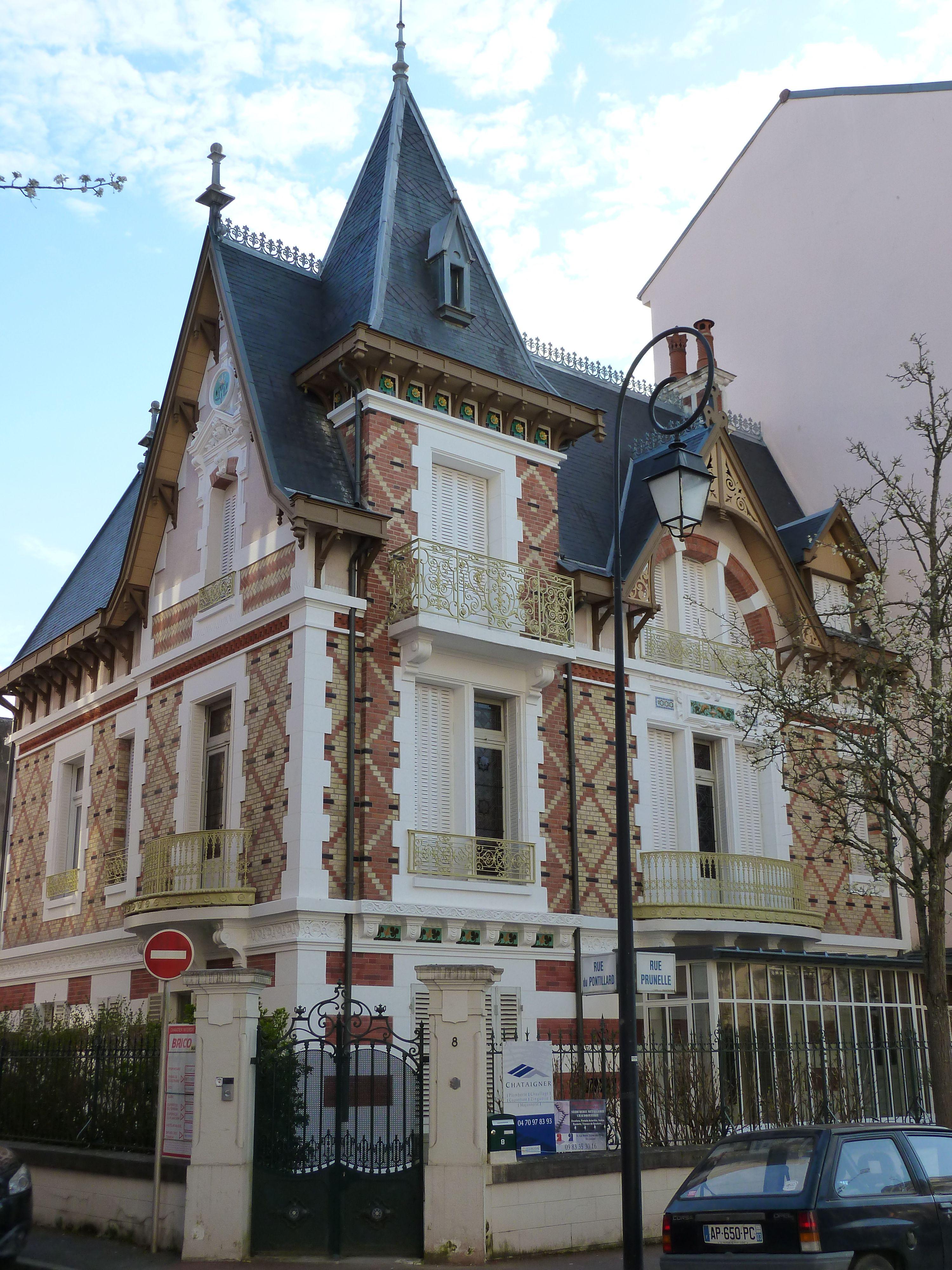 Vichy Villa Le Castel, 1893 8 rue Prunelle Vichy